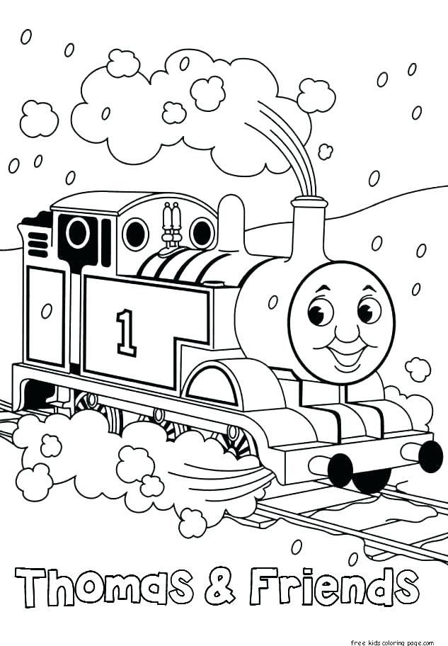 633x912 Free Thomas Coloring Pages Coloring Pages The Train Printable