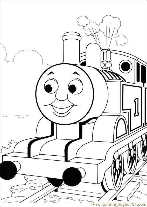 567x794 Thomas And Friends Coloring Page