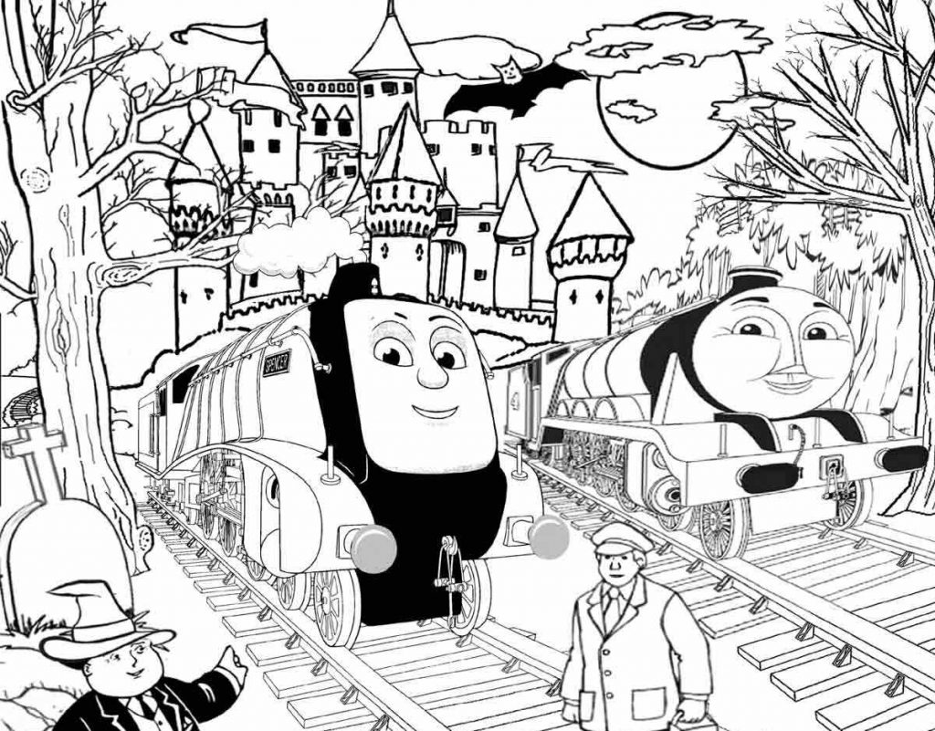 1024x801 Thomas And Friends Coloring Pages Three Trains For Kids General