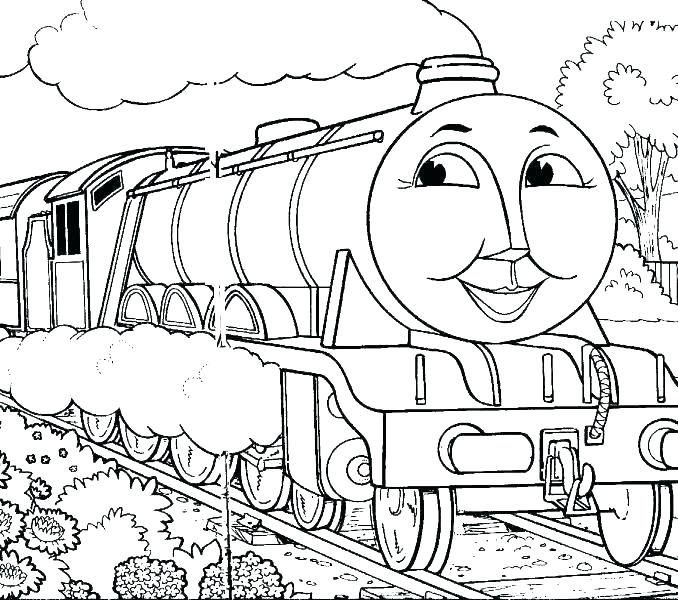 678x600 Thomas Coloring Book The Train Coloring Pages Free Coloring Pages