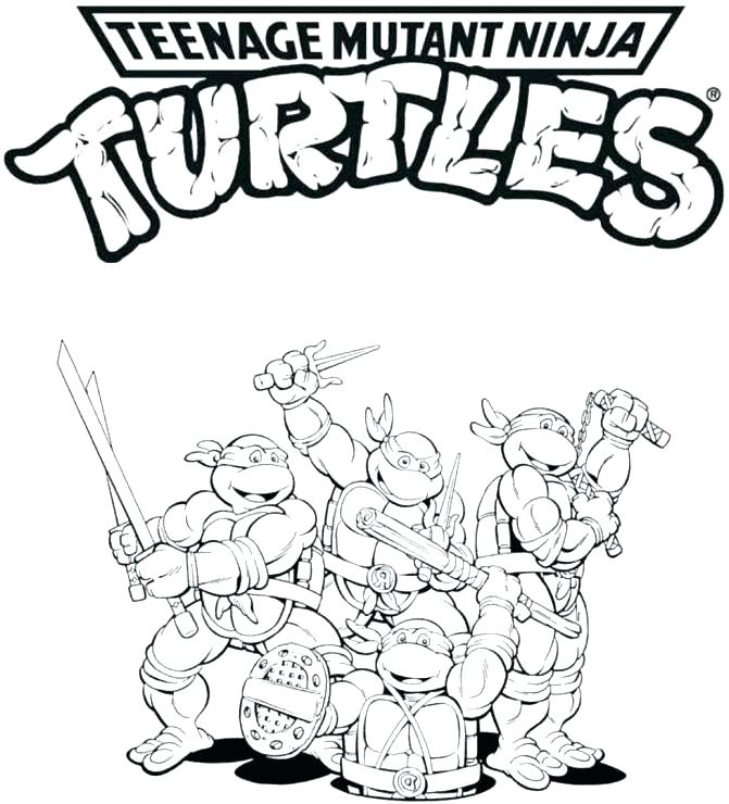 671x740 Tmnt Coloring Page Ninja Turtles Coloring Pages Tmnt Colouring