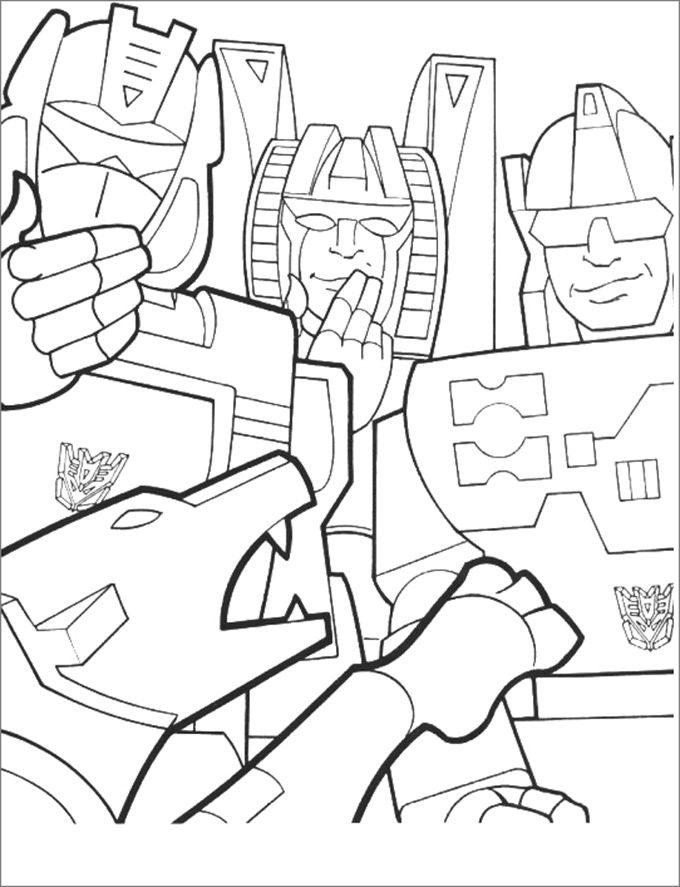 Free Transformer Coloring Pages At GetDrawings