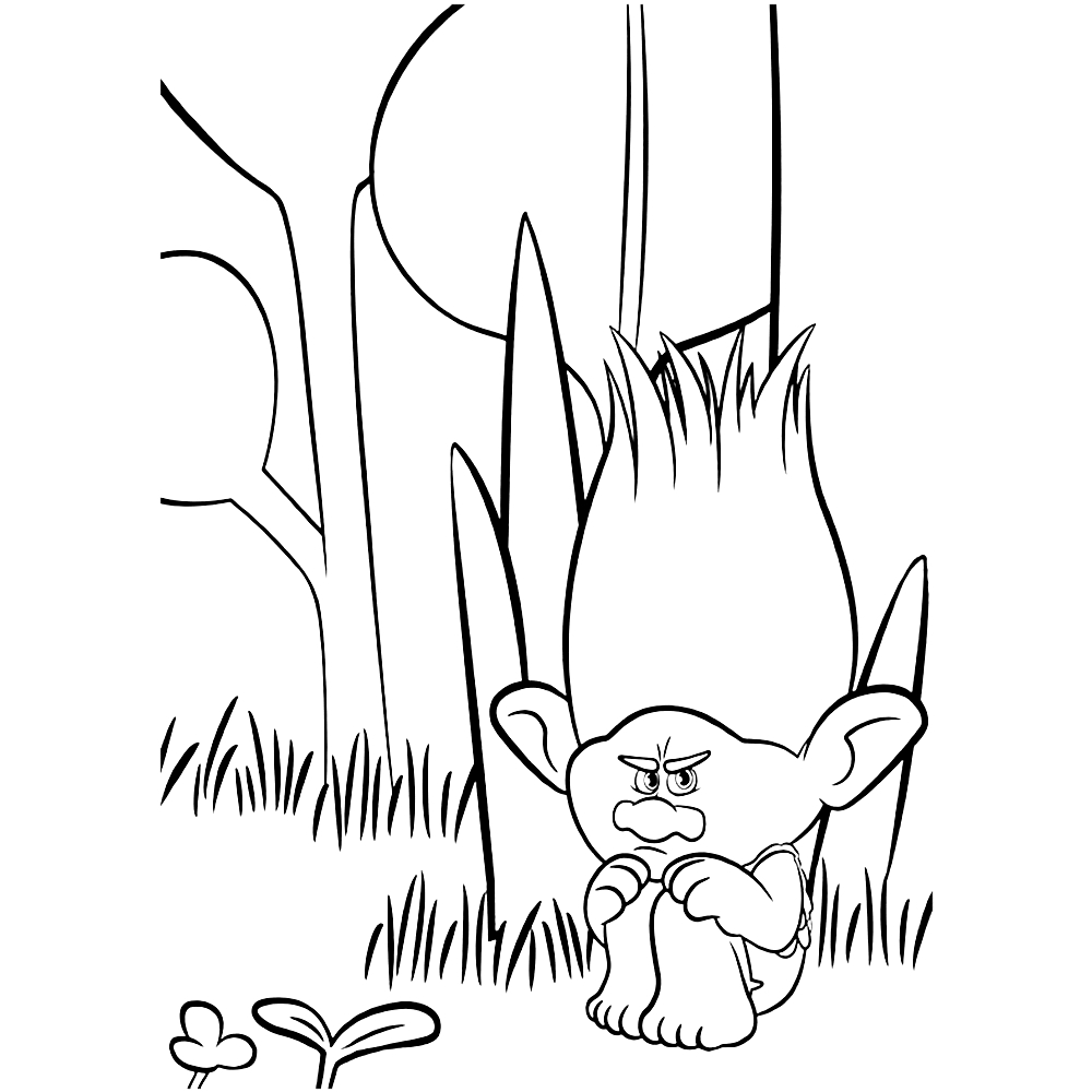 1000x1000 Awesome Branch Trolls Coloring Pages Design Free Coloring Pages