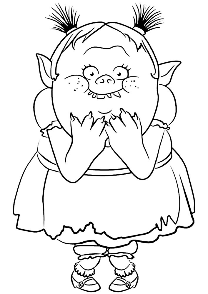 707x1000 Trolls Coloring Pages