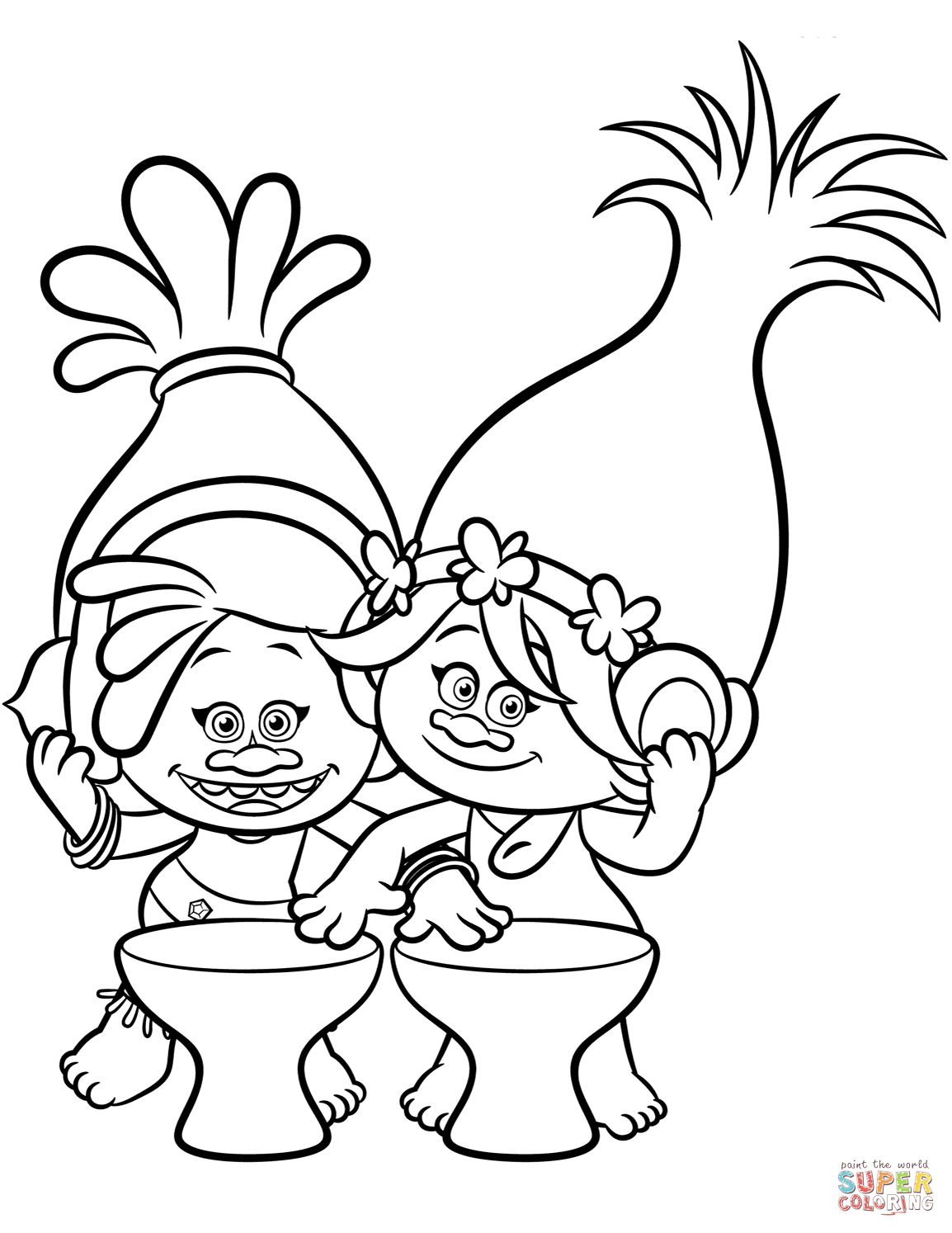 picture relating to Printable Trolls Coloring Pages referred to as Cost-free Trolls Coloring Web pages at  Cost-free for