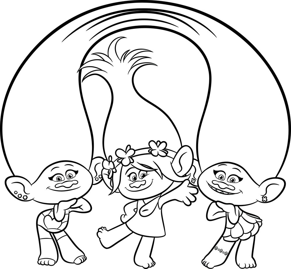 1000x923 Trolls Movie Coloring Pages On Smidge From Trolls Coloring Page
