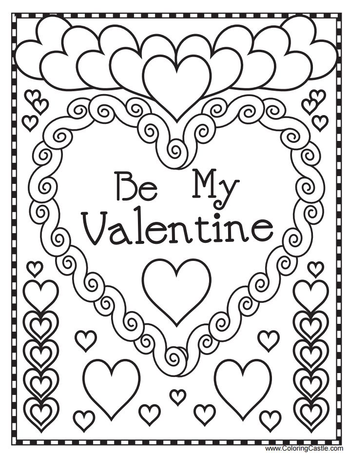 Free Valentine Coloring Pages At Getdrawings For