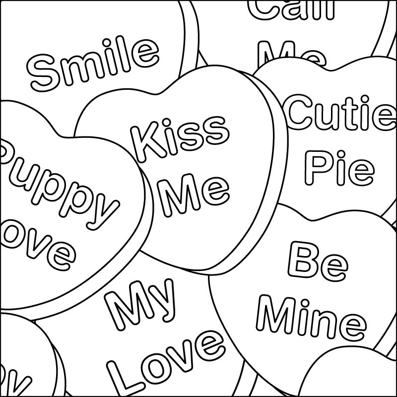 800x800 Happy Valentines Day Coloring Pages