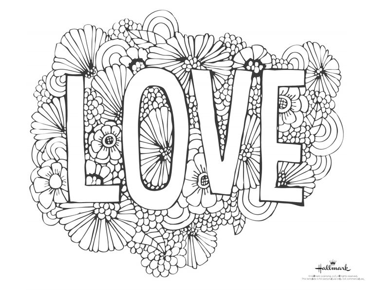 768x594 Mesmerizing Valentines Day Coloring Pages Free Printable Best