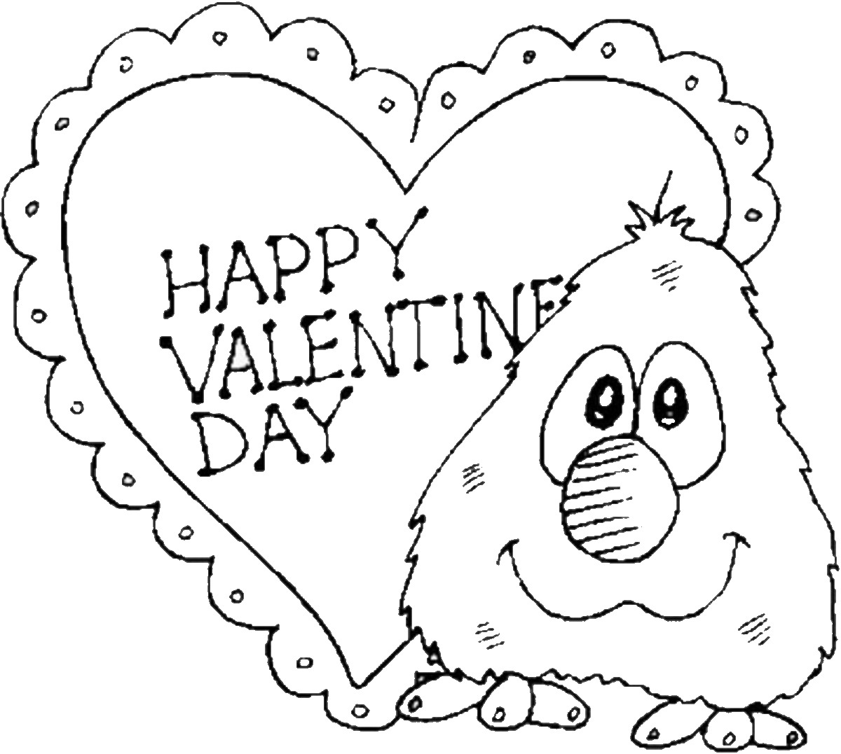 1200x1077 Valentine's Day Coloring Pages