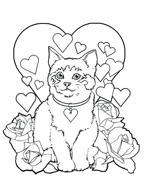 500x651 Valentine Day Coloring Pages Free Valentines Day Coloring Pages