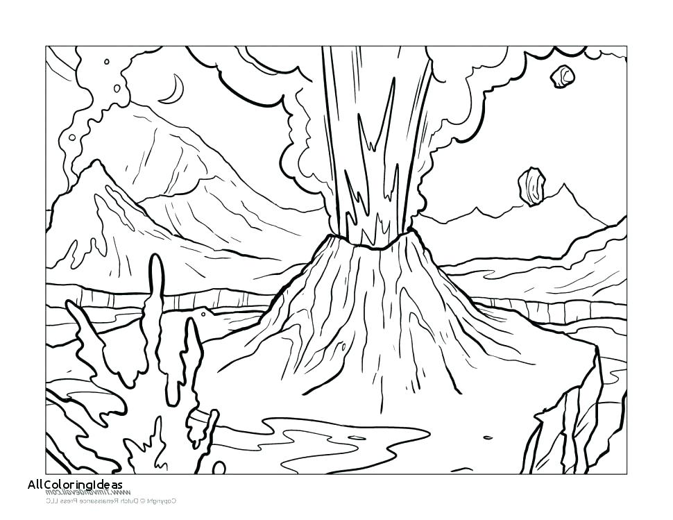 970x749 Volcano Coloring Pages Volcano Coloring Pages And Free Volcano