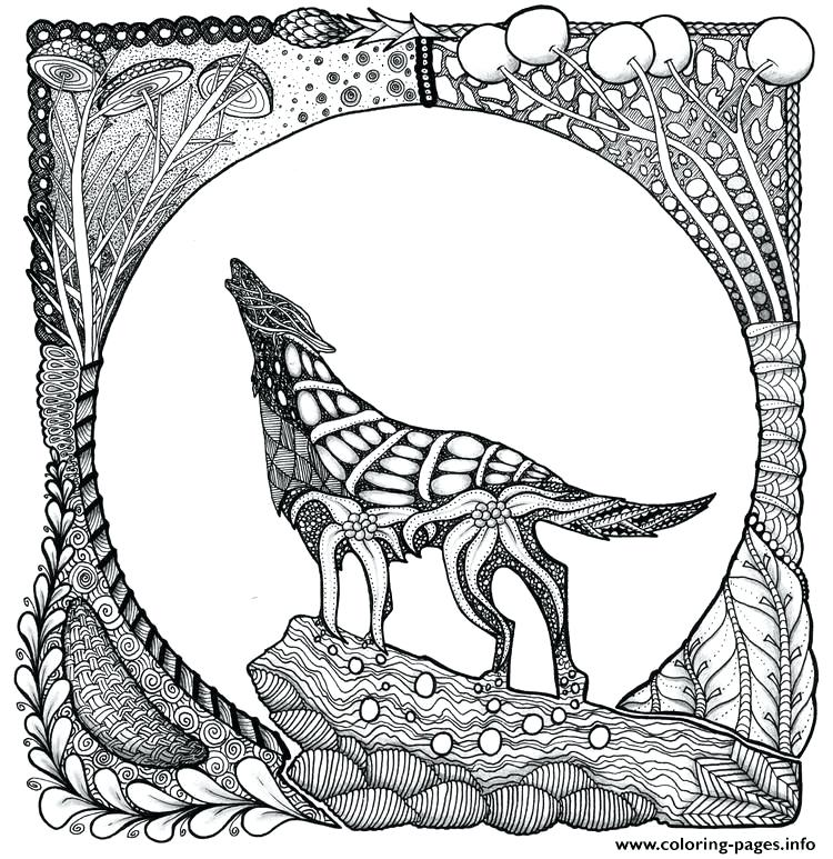 750x773 Wolf Coloring Pages Wolf Coloring Pages For Kids Winged Wolf Wolf