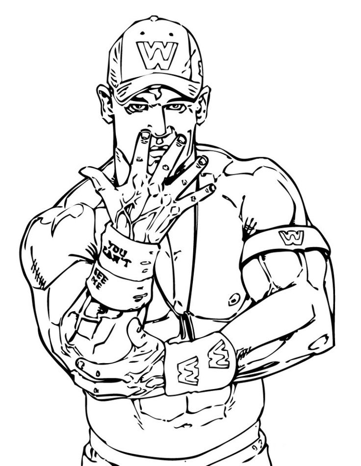 Wwe Coloring Pages Games At Getdrawings Com Free For Personal Use