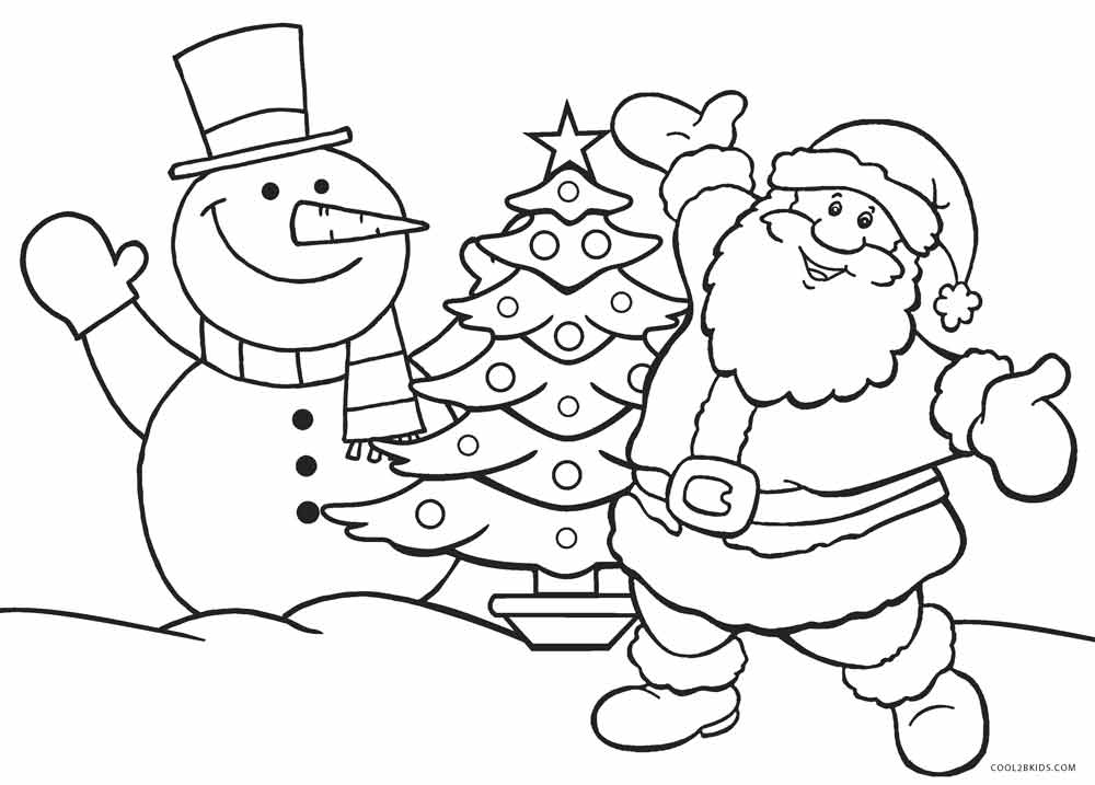 Free Xmas Coloring Pages For Kids - Drawing With Crayons