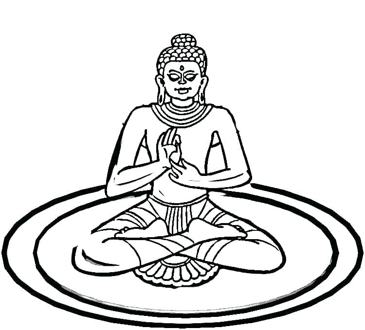 750x679 Indian Coloring Pages Amazing Coloring Pages Print Yoga Page Free
