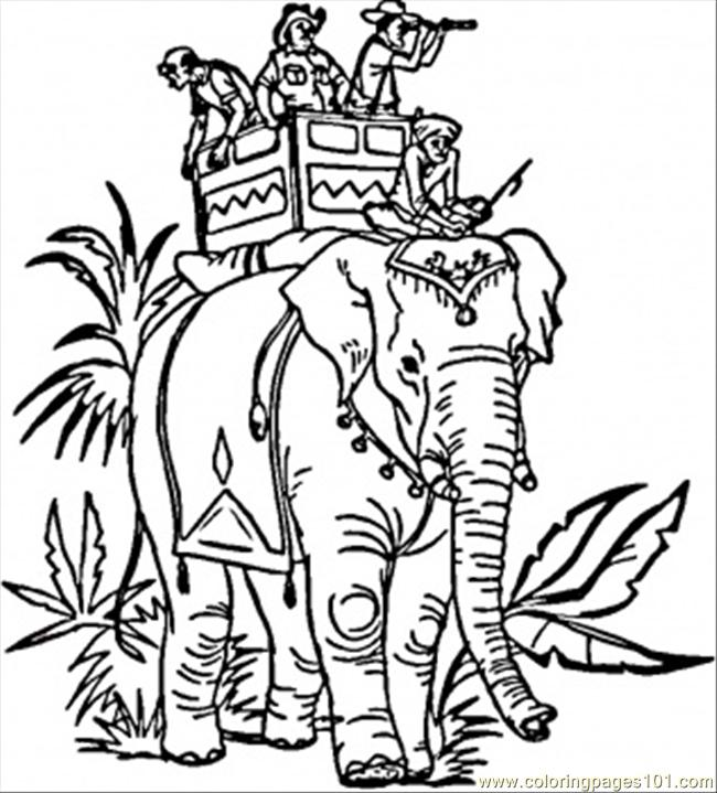 650x719 Indian Elephant Coloring Page