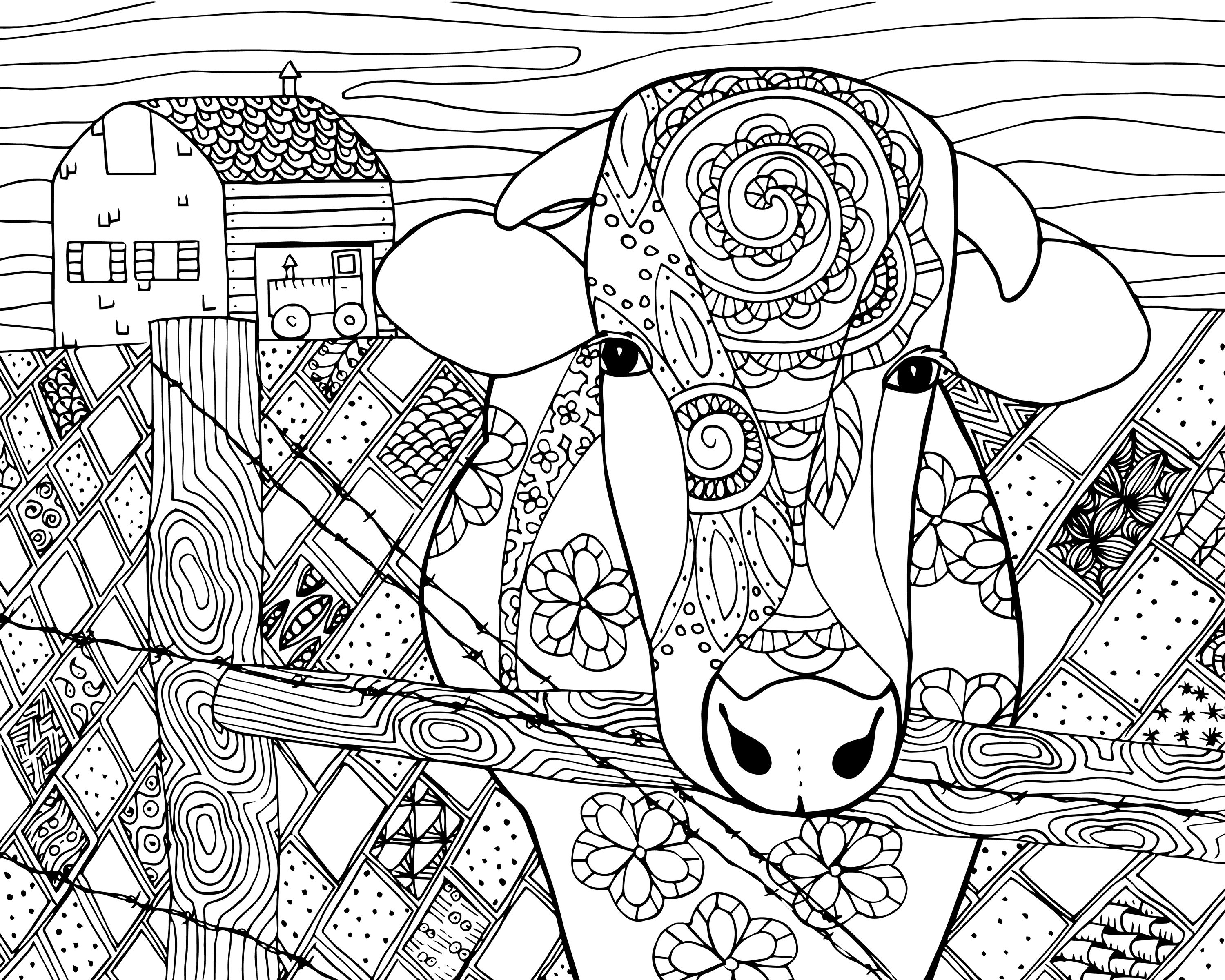 3000x2400 Free Coloring Pages Adults Woman Flowers Zen And Anti Stress