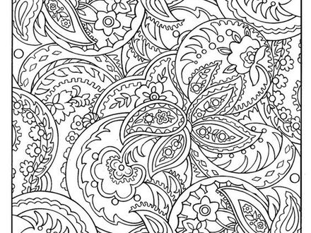 440x330 Zentangle Patterns Coloring Pages, Free Zentangle Patterns