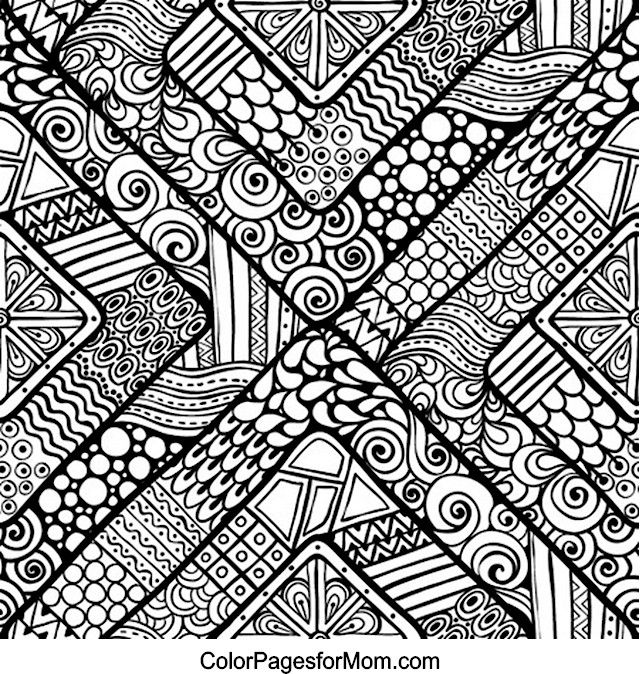 640x674 Pattern Coloring Pages For Adults Color Bros Pertaining To Ideas