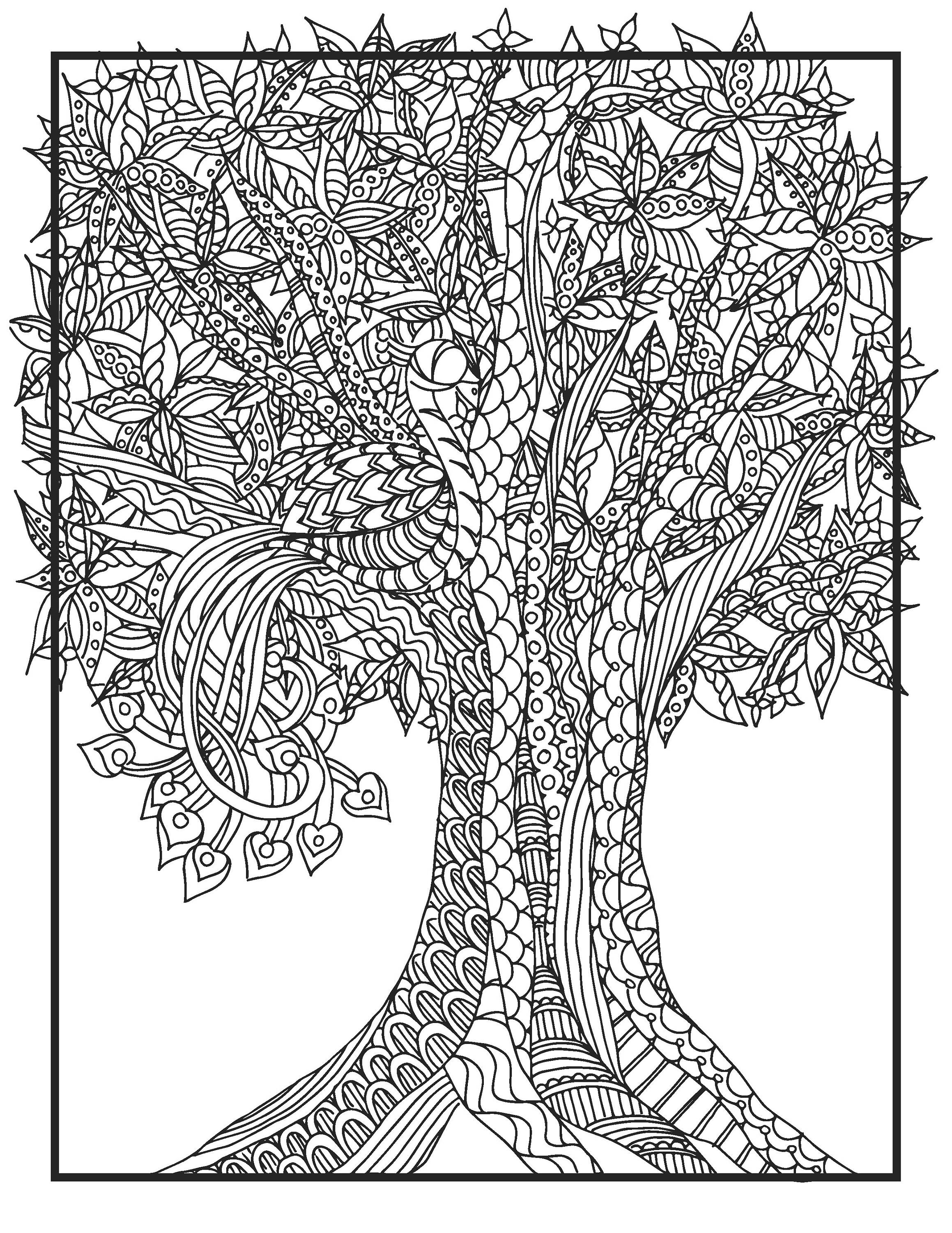 2318x3000 Tree Coloring Pages Etsy Free Coloring For Kids