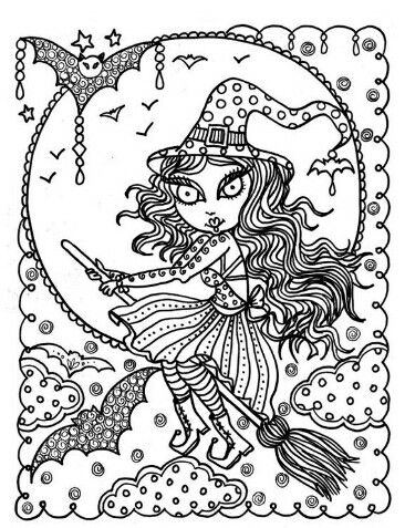 366x477 Whimsical Witch Halloween Zendoodle Free Printable Adult