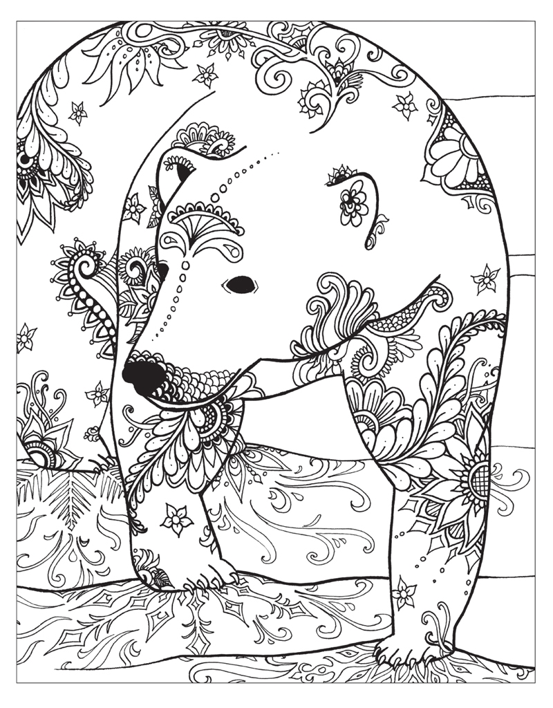 800x1024 Winter Coloring Pages Adults Winter Coloring Pages And Winter