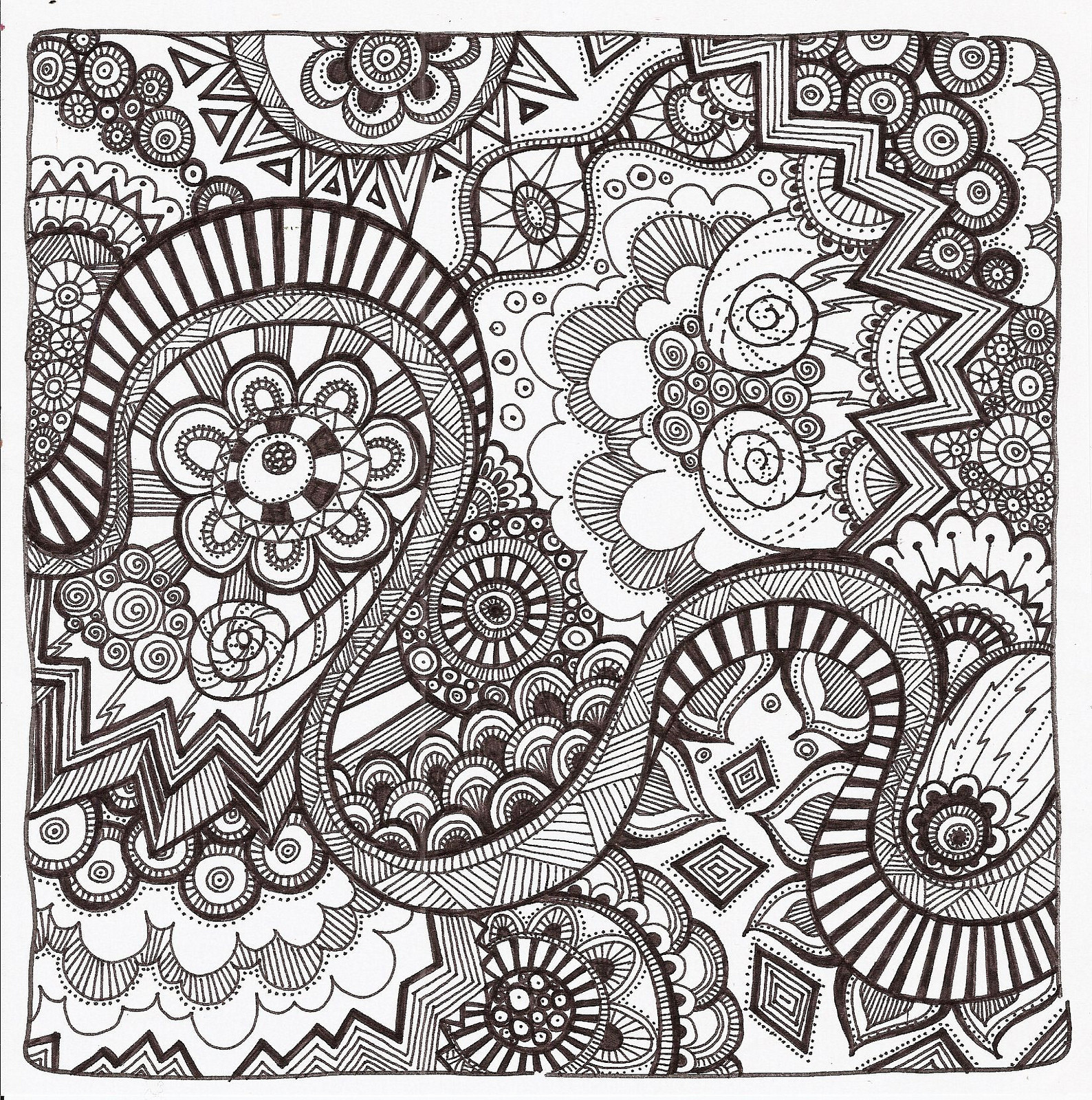 1588x1600 Free Coloring Pages For Adults Mama Bees Freebies And Zendoodle