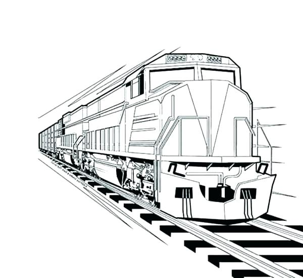 600x549 Freight Train Coloring Pages Train Color Page Site Image Color
