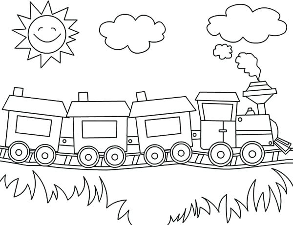 600x461 Train Coloring Picture Freight Train Coloring Pages Train Coloring
