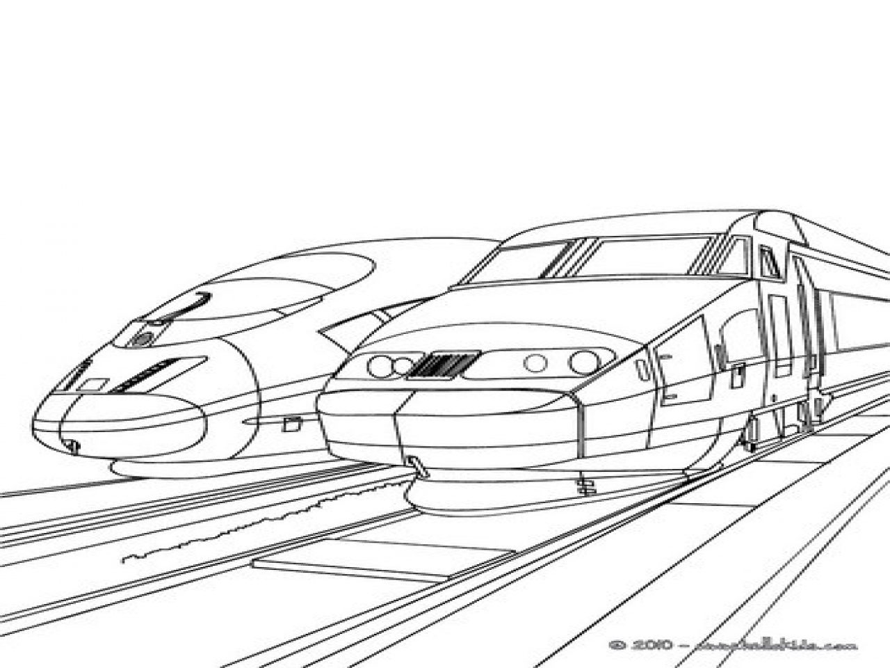 1280x960 Train Station Coloring Pages High Speed Trains Sideline Parked