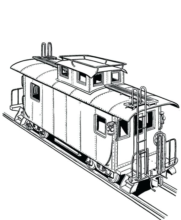 600x728 Coloring Page Train Freight Train On Railroad Coloring Page Free