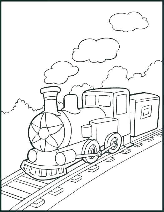 525x678 Coloring Page Train Long Steam Train Coloring Page Coloring Page