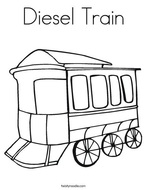 468x605 Diesel Train Coloring Page