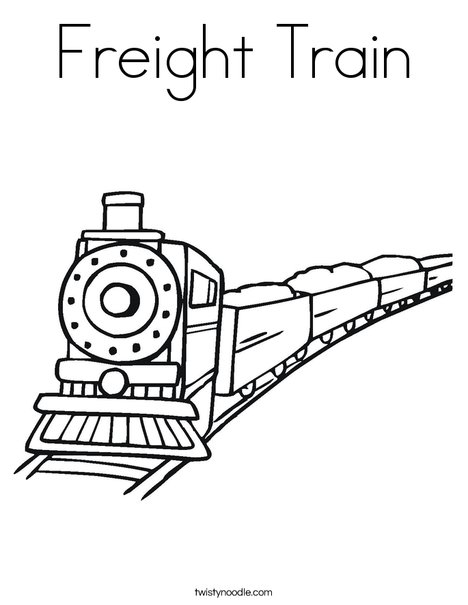 468x605 Freight Train Coloring Page