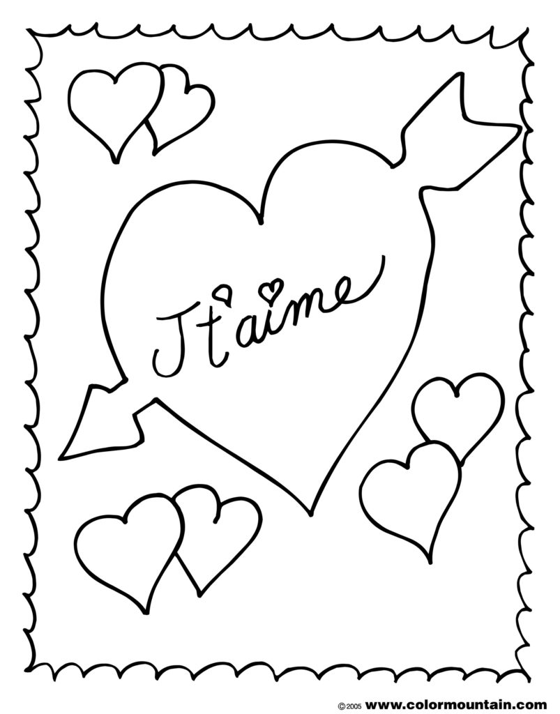 803x1024 France Coloring Pages French Valentine Page Kids Activities
