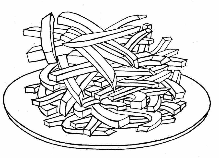 895x645 French Fries Coloring Page French Coloring Pages Bebo Pandco