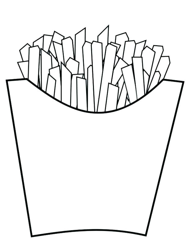 600x776 Junk Food Coloring Pages French Junk Food Colouring Sheets