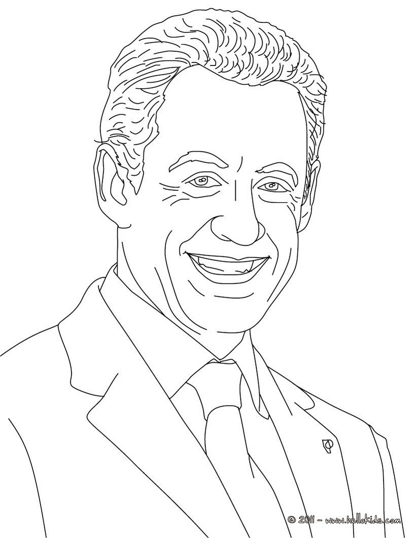 820x1060 Presidents Of France Coloring Pages