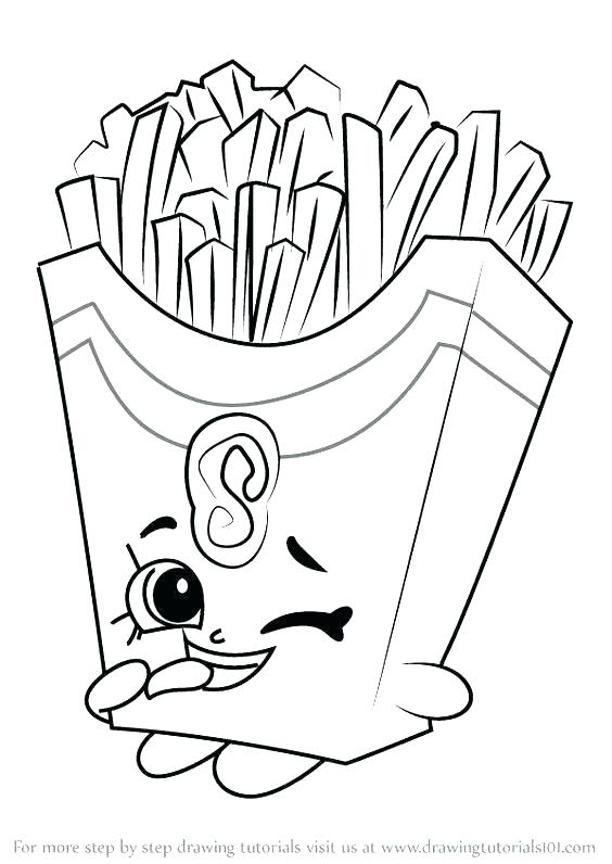 564x796 French Fries Coloring Page French Coloring Pages French Fries