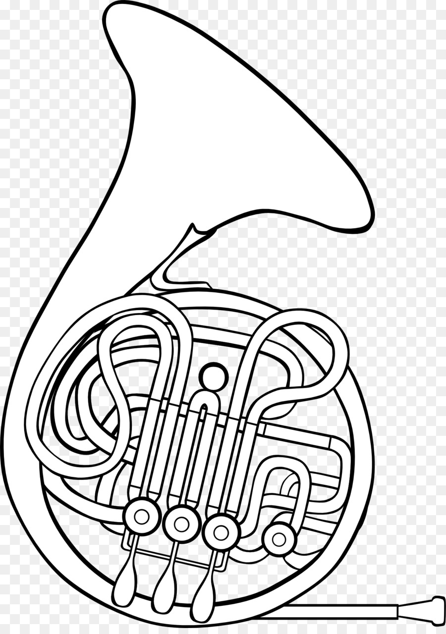 900x1280 French Horns Coloring Book Tuba Drawing