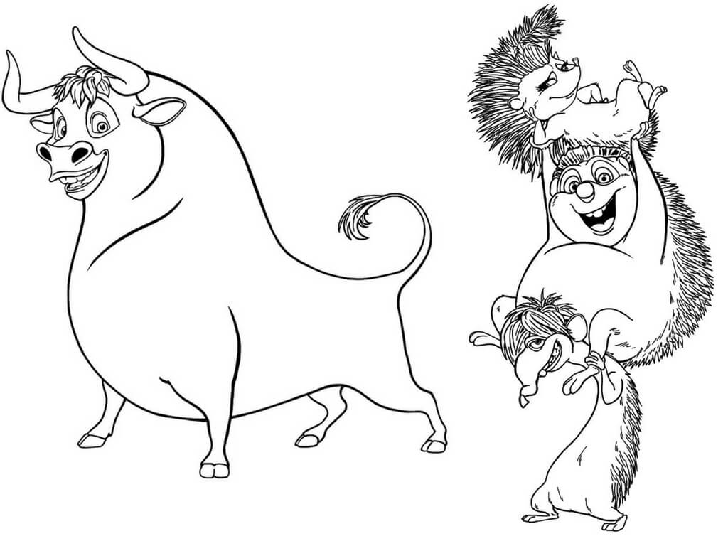 1024x768 Printable Disney Ferdinand Coloring Pages