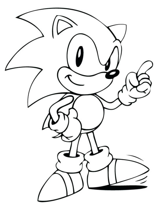 550x711 Sonic Coloring Picture Sonic Coloring The Hedgehog Party Super