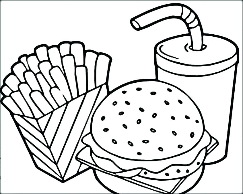 847x678 Coloring Pages French Fries Coloring Page French Coloring Pages