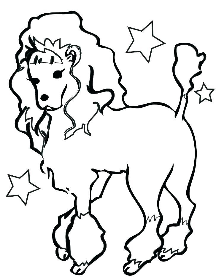 728x942 Poodle Coloring Page Poodle Coloring Pages Coloring Coloring Pages