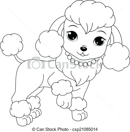450x456 Poodle Coloring Page Poodle Coloring Pages Free