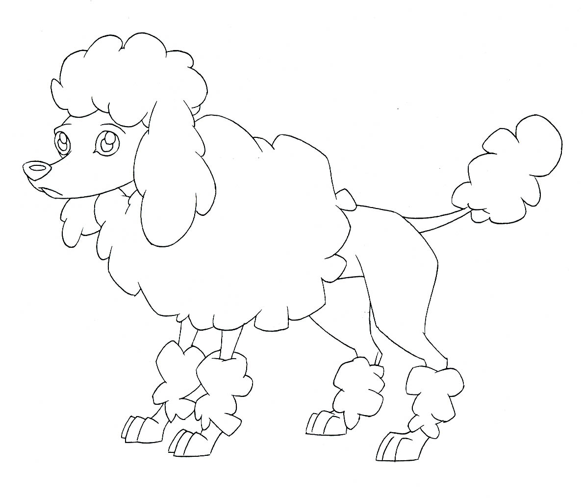 1189x1015 Attractive Poodle Coloring Pages Illustration