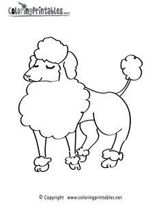 236x305 Printable Poodle Coloring Page Free Pdf Download