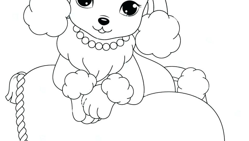 960x544 Poodle Coloring Page