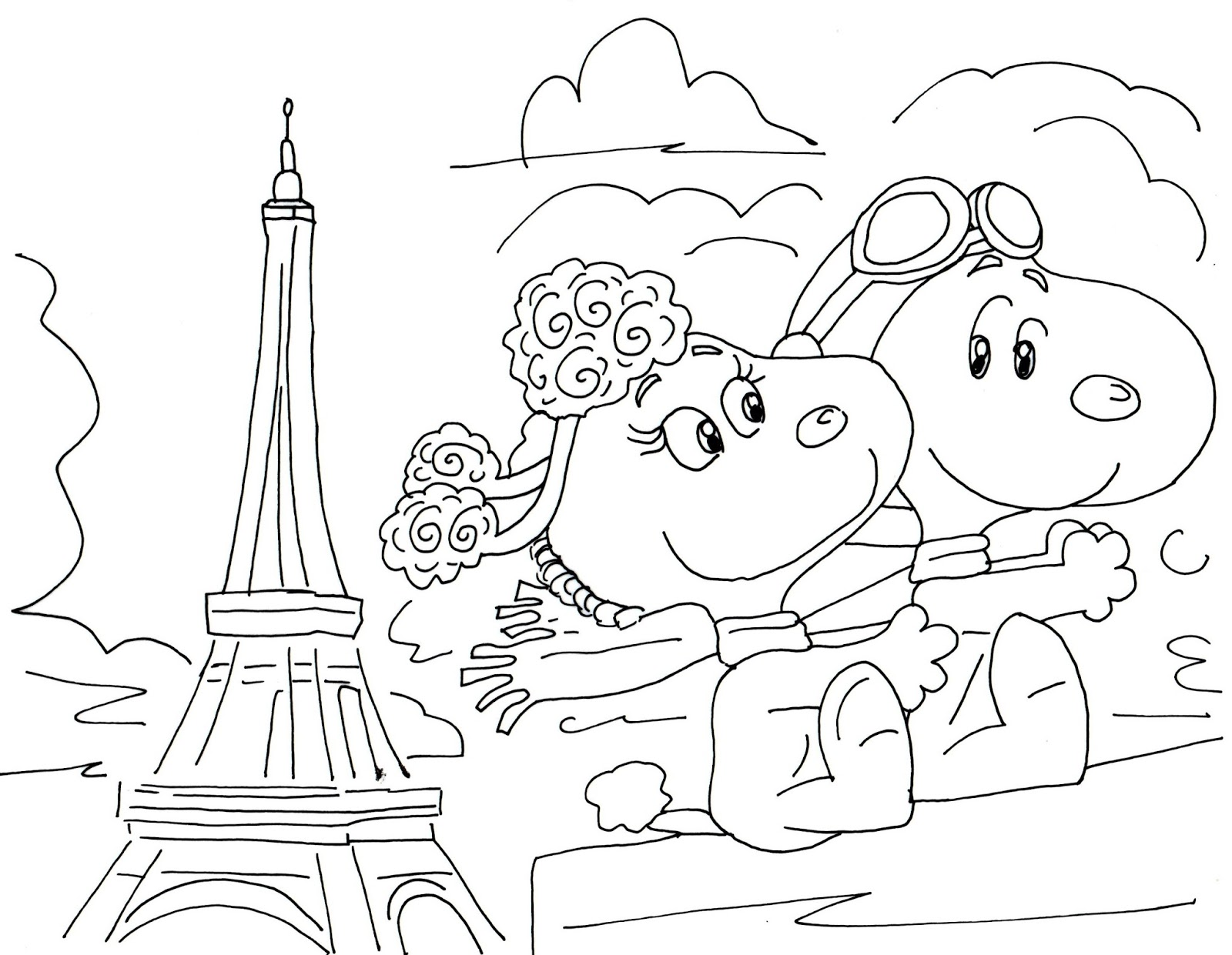 1600x1241 Free Charlie Brown Snoopy And Peanuts Coloring Pages January